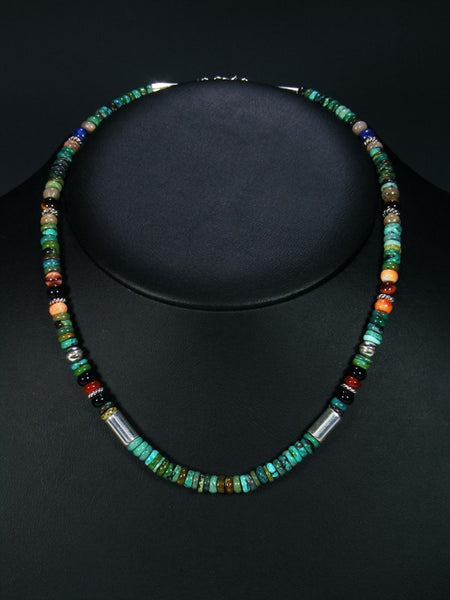 Turquoise Single Strand Choker Bead Necklace
