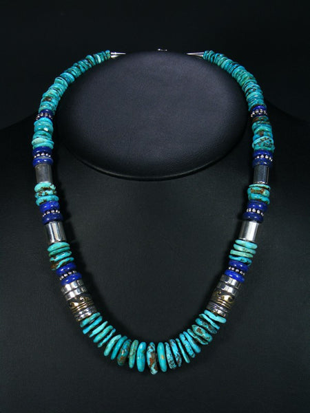 Lapis and Turquoise Single Strand Necklace