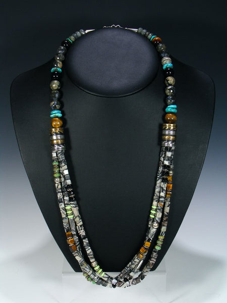 "Marble Multi-Strand 30"" Necklace"