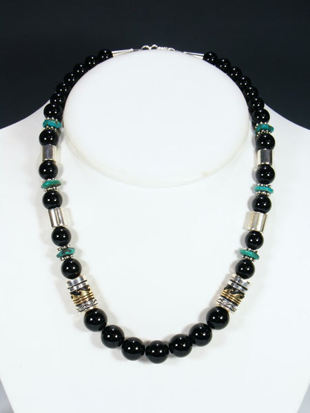 "Onyx 21"" Single Strand Bead Necklace"