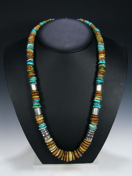 "Turquoise 28"" Single Strand Long Beaded Necklace"