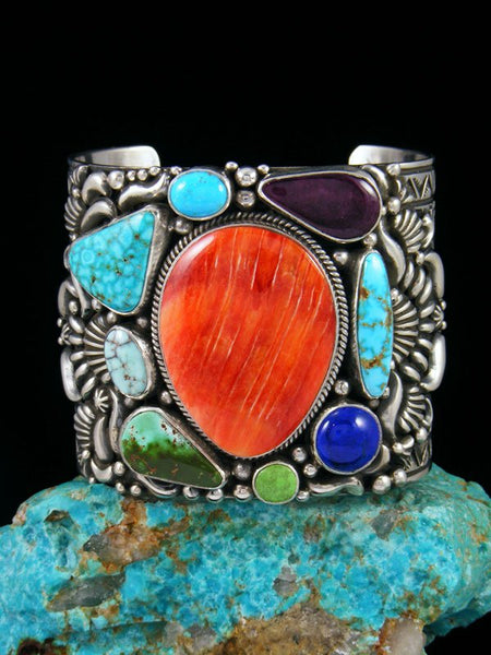 Native American Indian Jewelry Spiny Oyster Picasso Cuff Bracelet