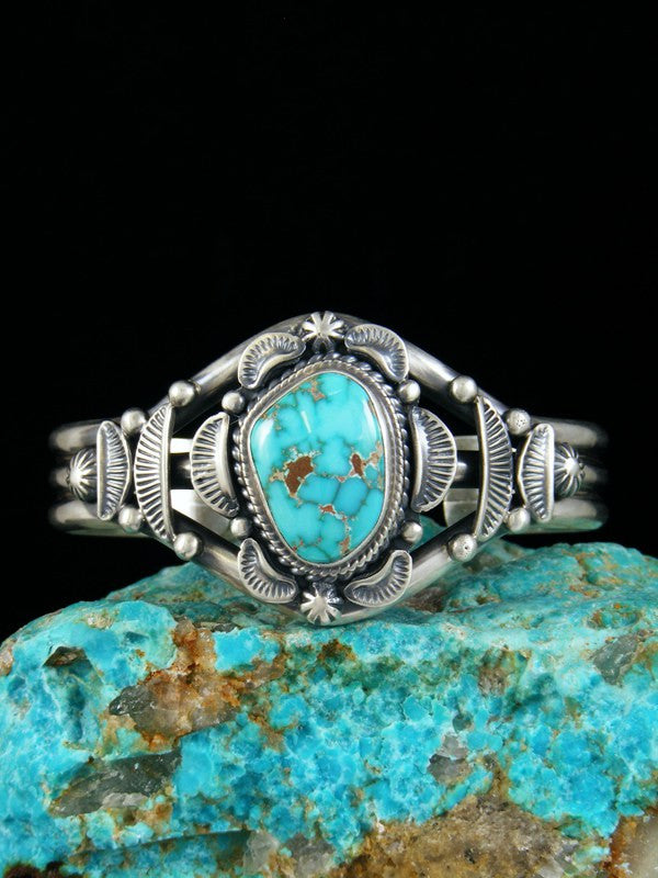 Native American Natural Carico Lake Turquoise Cuff Bracelet