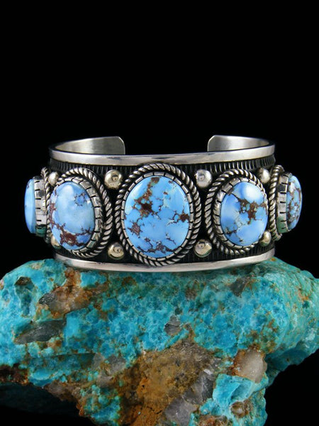 Native American Jewelry Natural Golden Hill Turquoise Cuff Bracelet