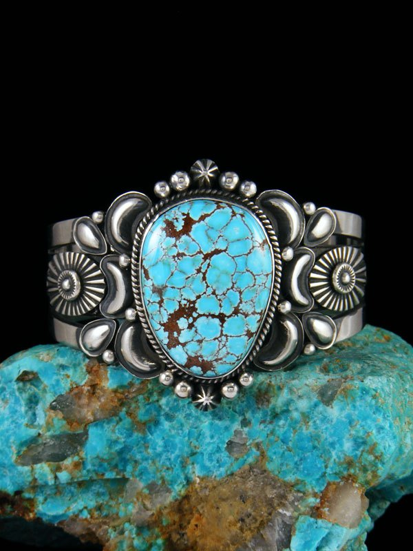 Native American Indian Jewelry #8 Turquoise Cuff Bracelet