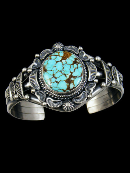 Native American Number 8 Turquoise Cuff Bracelet