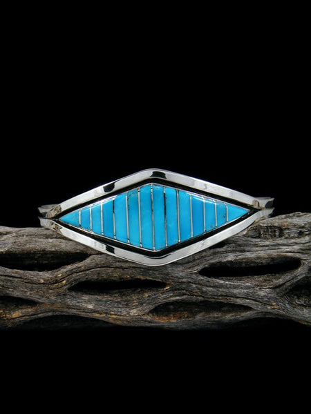 Native American Zuni Turquoise Inlay Bracelet