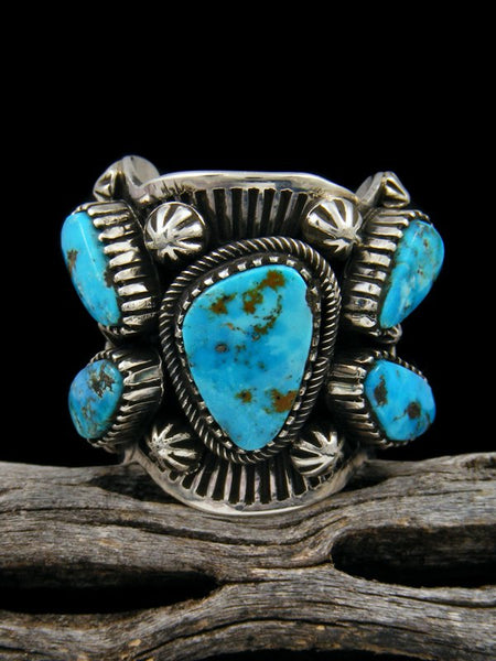 Natural Morenci Turquoise Ring, Size 8 1/2