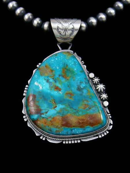 Native American Sterling Silver Sierra Nevada Turquoise Necklace