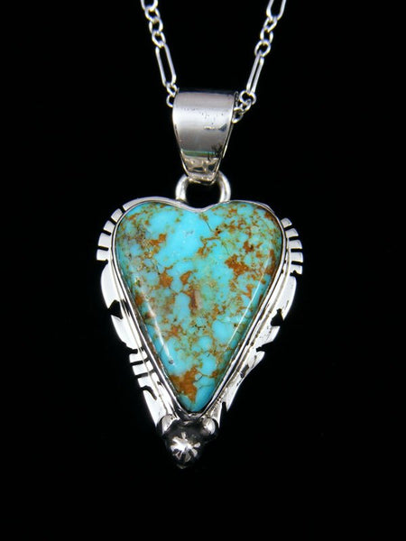Native American Indian Jewelry #8 Turquoise Heart Pendant