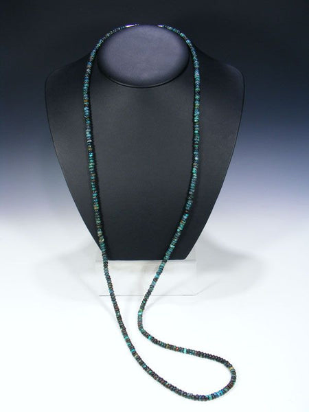 Native American  Extra Long Turquoise Wrap Necklace by Tammy Nolcott - PuebloDirect.com - 3