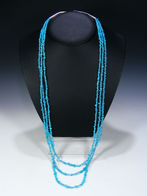 Native American  Turquoise and Bead Necklace by Tammy Nolcott - PuebloDirect.com - 1