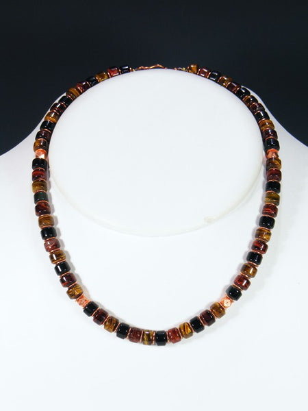Navajo Tiger Eye Single Strand Choker Necklace