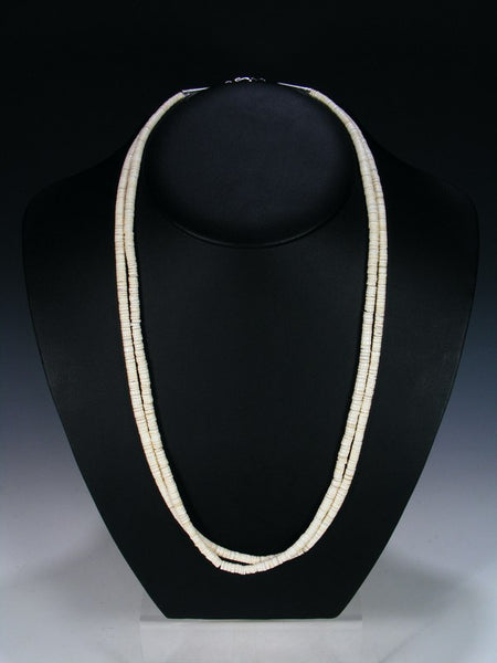 Santo Domingo Two Strand White Shell Necklace