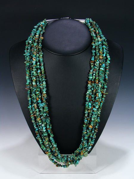 Seven Strand Navajo Turquoise Necklace