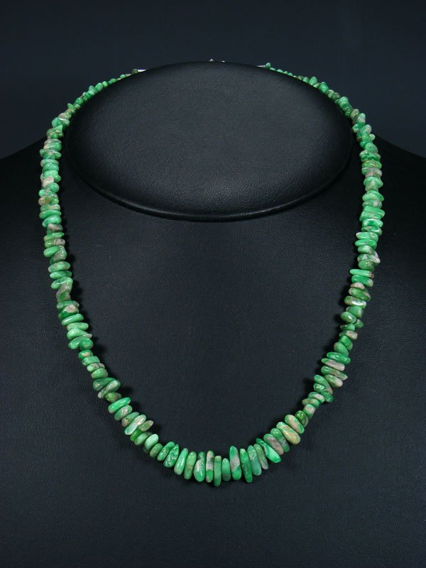 Native American Indian Jewelry Single Strand Lucin Variscite Necklace