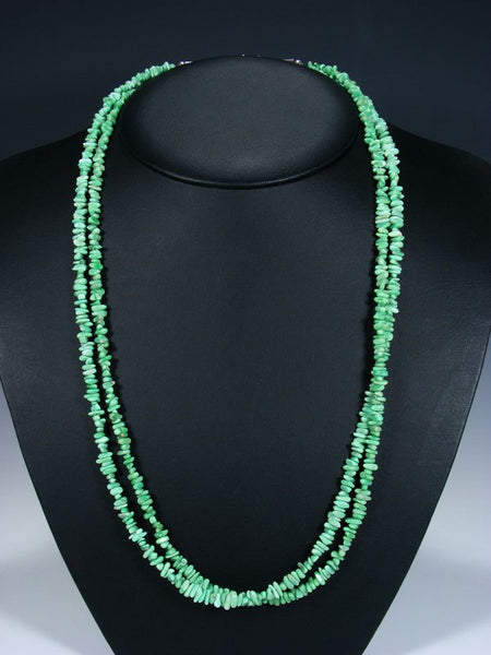 Native American Indian Jewelry Double Strand Lucin Variscite Necklace
