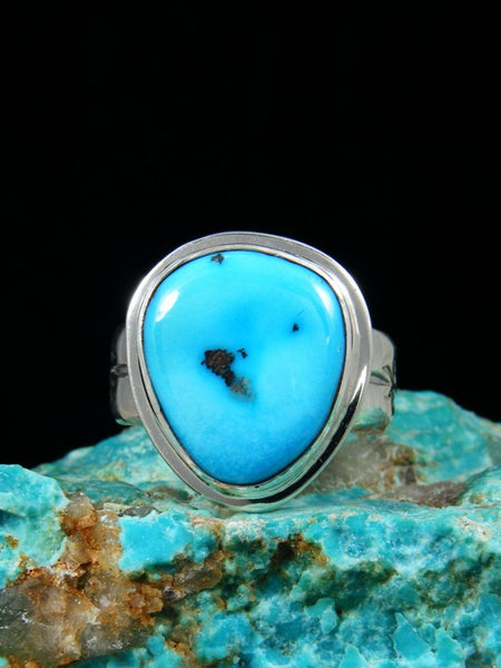 Sleeping Beauty Turquoise Ring, Size 10 1/2