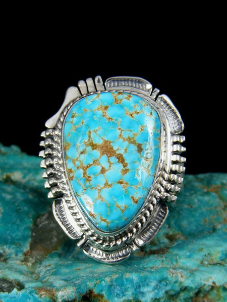 Turquoise Mountain Turquoise Ring, Size 8.5