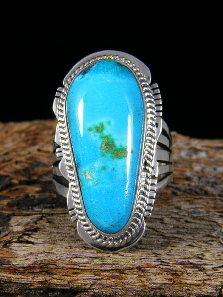 Easter Blue Turquoise Ring, Size 7 1/2