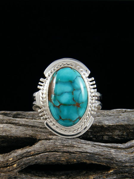 Sierra Nevada Turquoise Ring, Size 5 3/4