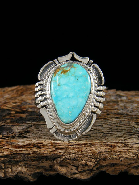 Turquoise Mountain Ring, Size 6.5