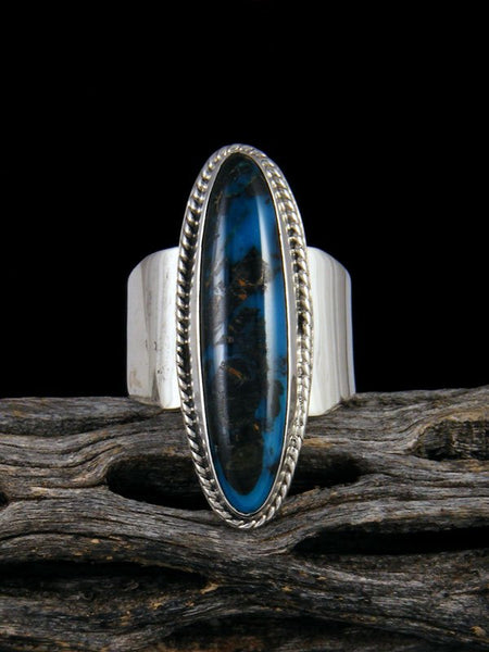 Adjustable Blue Moon Turquoise Ring, Size 11