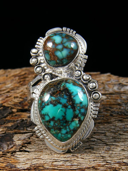 Blue Moon Turquoise Ring, Size 7 1/2