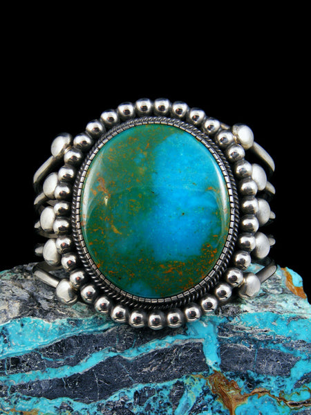 Native American Indian Kingman Turquoise Cuff Bracelet