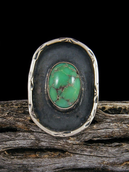 Estate Sterling Silver Turquoise Ring, Size 6