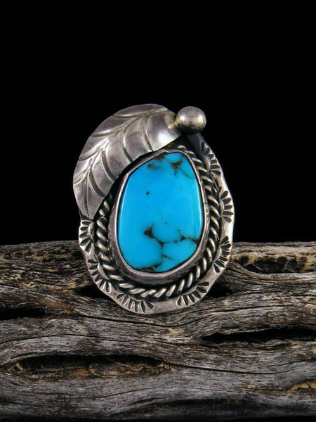 Vintage Sterling Silver Turquoise Ring, Size 5 1/2