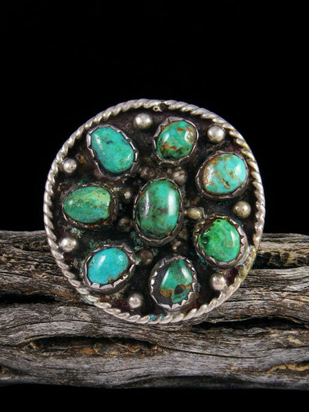 Vintage San Felipe Sterling Silver Turquoise Ring, Size 8