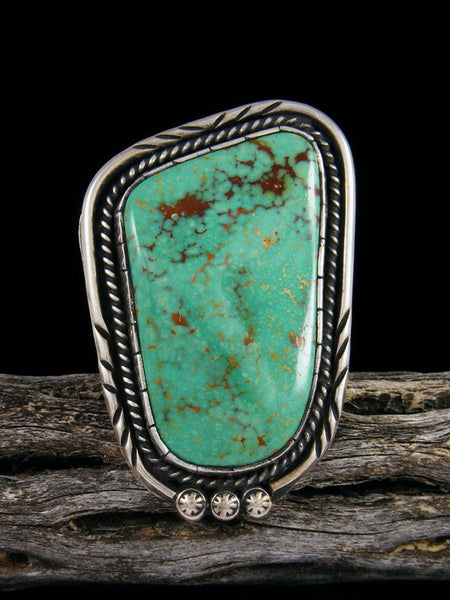 Vintage Sterling Silver Turquoise Ring, Size 10