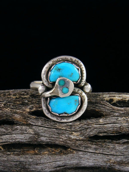 Vintage Zuni Sterling Silver Turquoise Ring, Size 6 1/2
