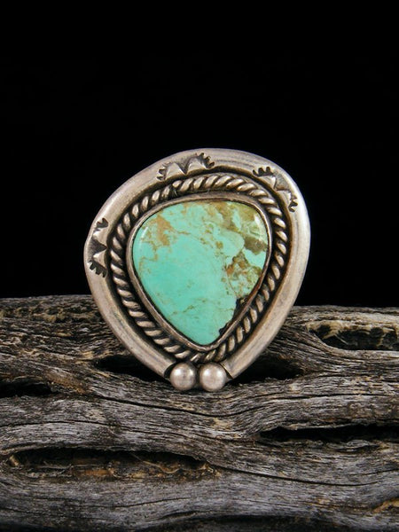 Estate Sterling Silver Turquoise Ring, Size 5 3/4