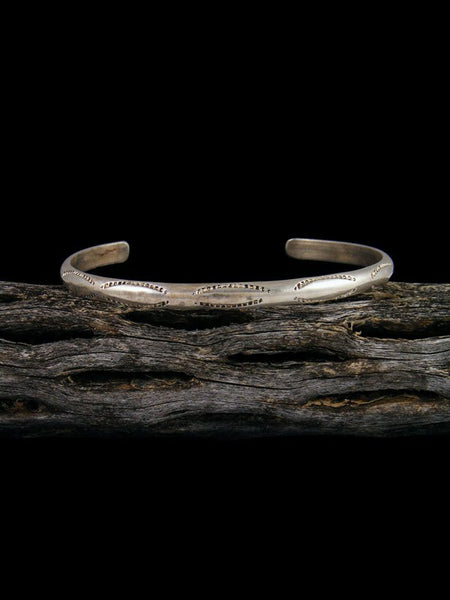 Estate Native American Stamped Sterling Silver Bracelet