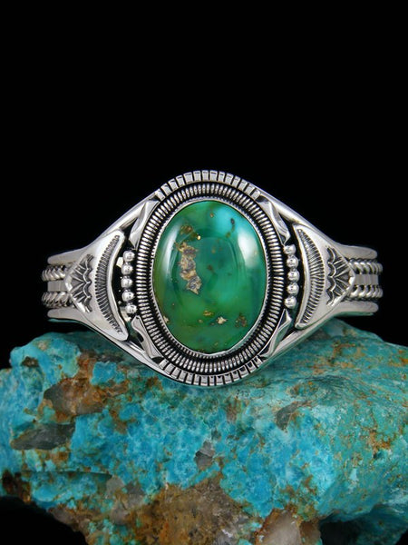 Native American Stone Mountain Turquoise Sterling Silver Cuff Bracelet