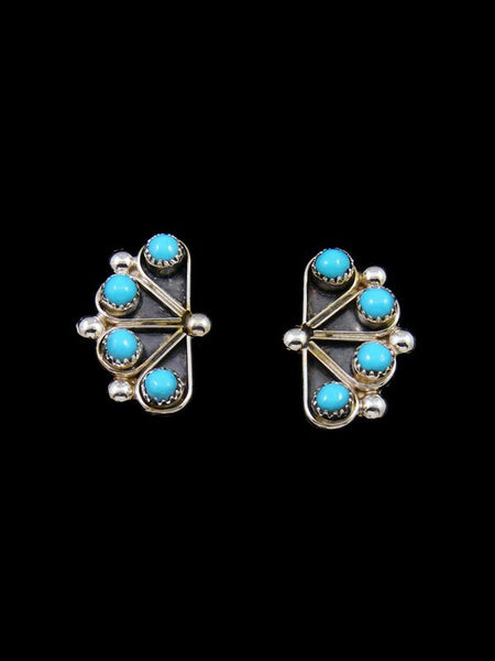 Native American Indian Jewelry Turquoise Post Zuni Earrings