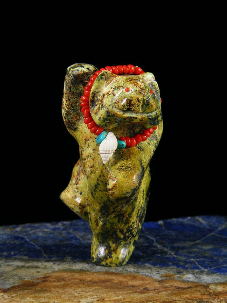 Serpentine Dancing Bear Zuni Fetish