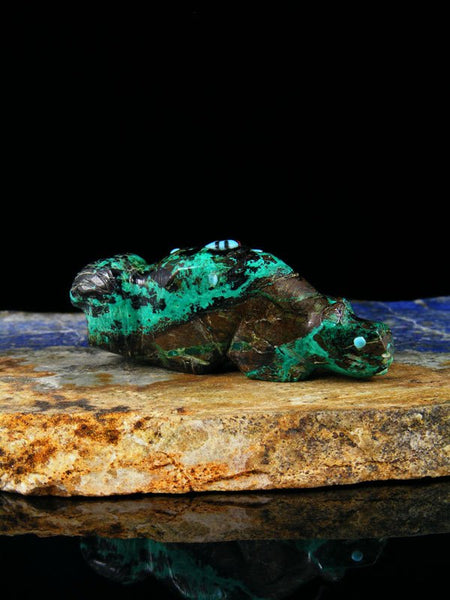 Chrysocolla Squirrel Zuni Fetish