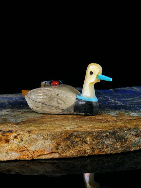 Picasso Marble Duck Zuni Fetish