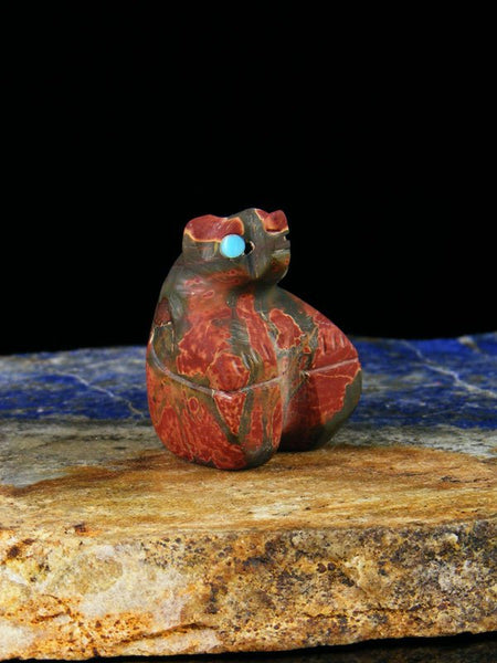 Cherry Creek Jasper Bear Zuni Fetish