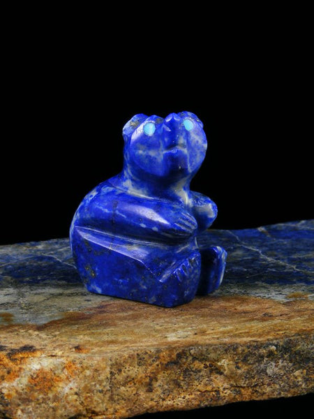Lapis Bear Zuni Fetish