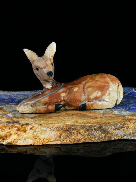 Picasso Marble Fawn Zuni Fetish