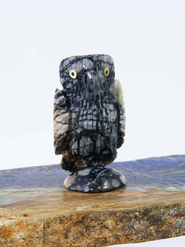 Picasso Marble Owl Zuni Fetish