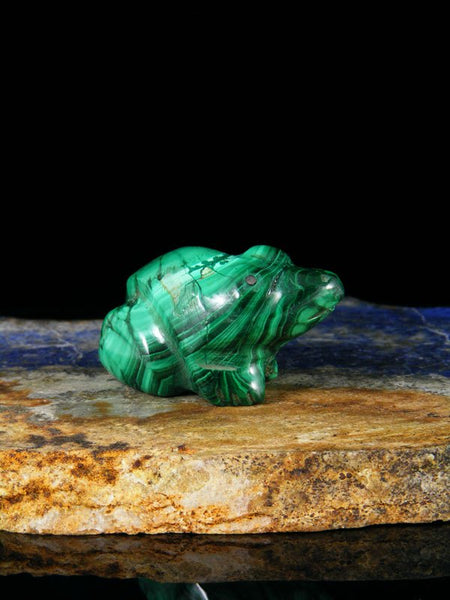 Malachite Frog Zuni Fetish