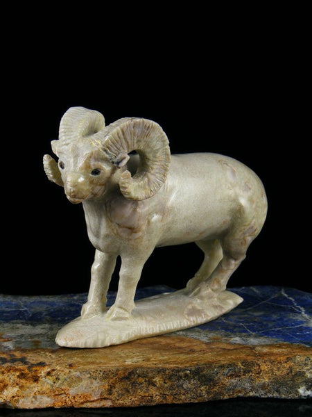 Picasso Marble Ram Zuni Fetish