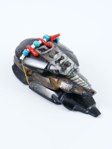 Orthoceras Fossil Badger Family Zuni Fetish Bundle