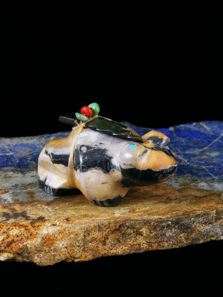 Egyptian Marble Frog Zuni Fetish