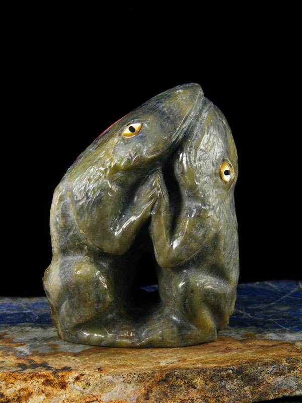 Serpentine Dancing Frogs Zuni Fetish